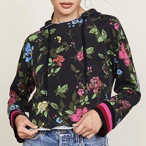 Pam & Gela Cutoff Floral Hoodie